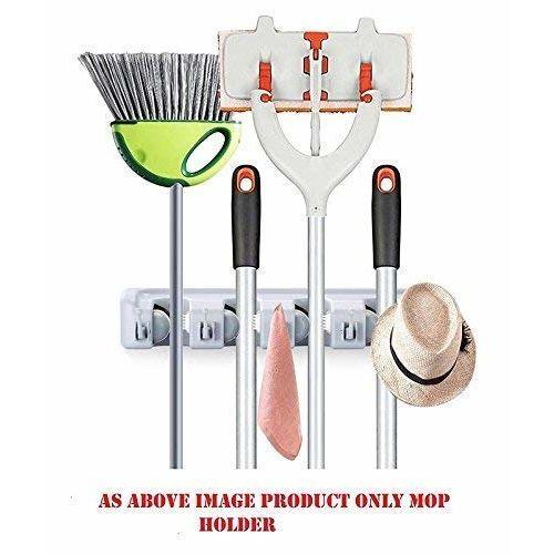 ZOSOE Mop and Broom Holder, Multipurpose Wall Mounted Magic Holder Broom & Mop Organizer Storage Hooks, Ideal Broom Hanger for Kitchen Garden, Mop Holder, Broom