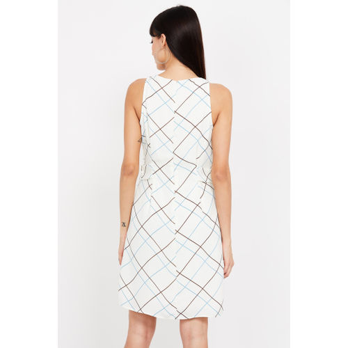 VERO MODA Checked Sleeveless A-line Dress