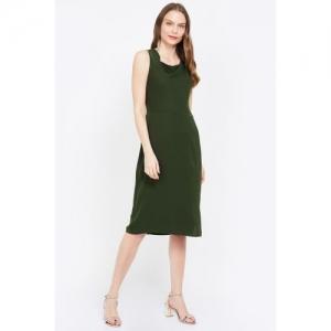 ALLEN SOLLY Solid Sleeveless Sheath Dress