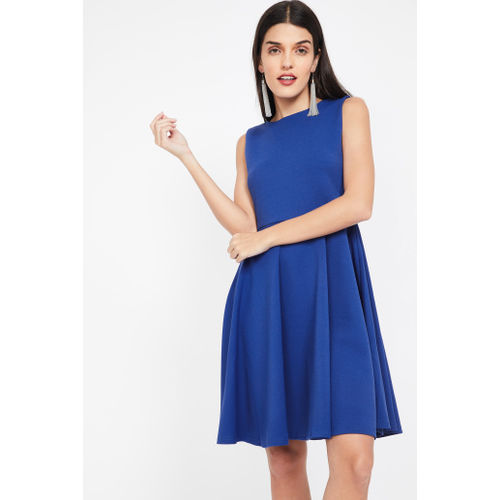 AND Solid Sleeveless Skater Dress