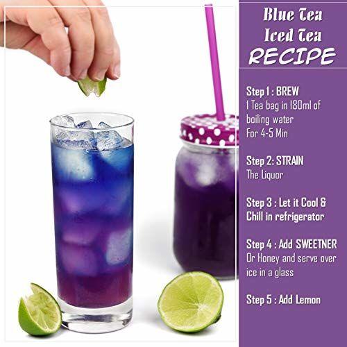 BLUE TEA - Butterfly Pea Flower- Certified ORGANIC-25g & Pure Lavender Flower Tea- 30g - Combo Pack | Caffeine Free Herbal Tea for Calmness| 55g - 100 Cups I