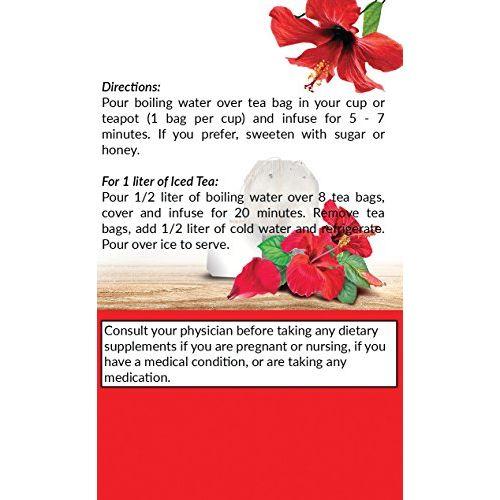 Grenera Hibiscus Infusion Tea - 20 Tea Bags/Box (1)
