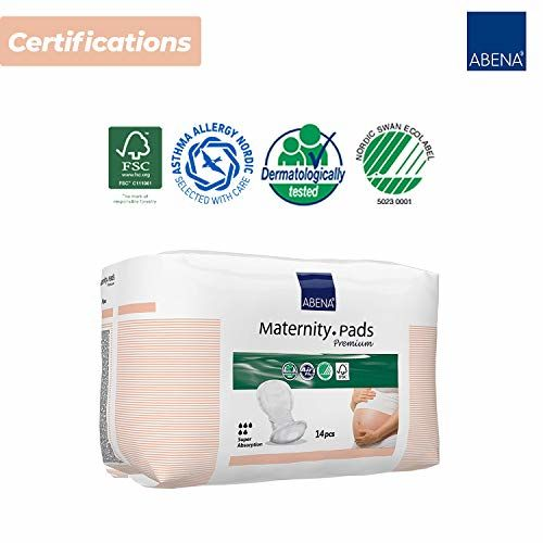 Abena Maternity Pads for Women - 14 Count, Super Absorption, Soft Disposable Pads for After-Delivery Incontinence