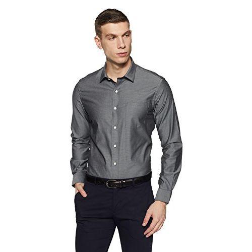 Arrow Men's Solid Slim Fit Formal Shirt (ARES0905_Grey_44)