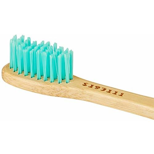 Amazon Brand - Solimo Bamboo Toothbrush (Pack of 4)