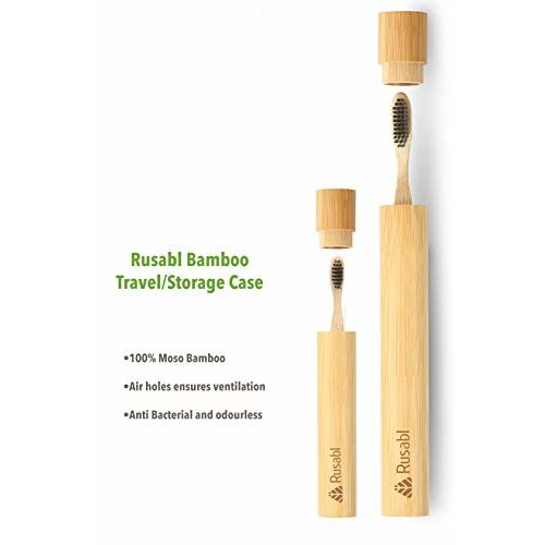 Minimo Rusabl (earlier Minimo) - Toothbrush Bamboo Case - Natural and Eco Friendly Travel Accessory (1 adult and 1 kid pack)