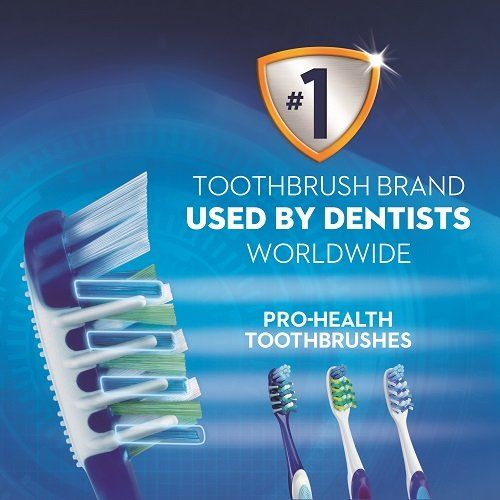 Oral B Oral-B CrossAction Pro-Health Superior Clean Toothbrush - 2 Units, Medium (Colors May Vary)