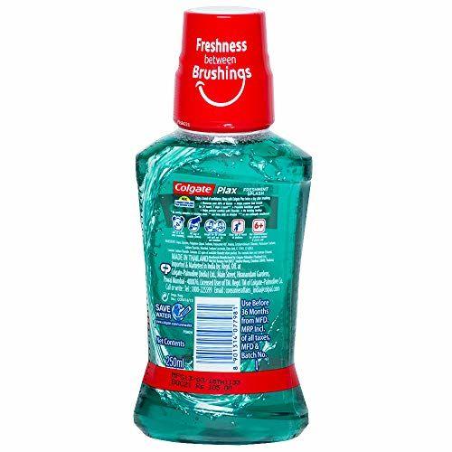 Colgate Plax Antibacterial Mouthwash, 24/7 Fresh Breath - 250ml, (Fresh Mint)