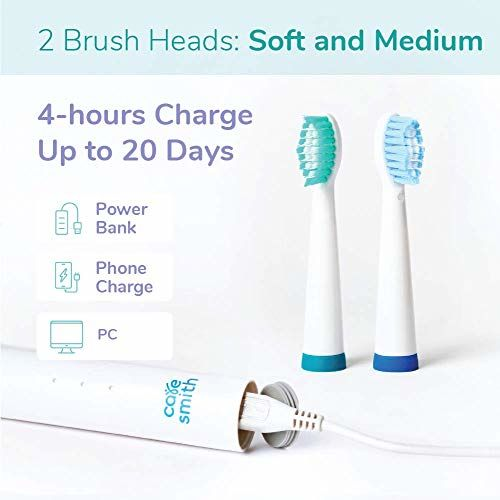 Caresmith SPARK Rechargeable Electric Toothbrush (White) | 6 Operational Modes