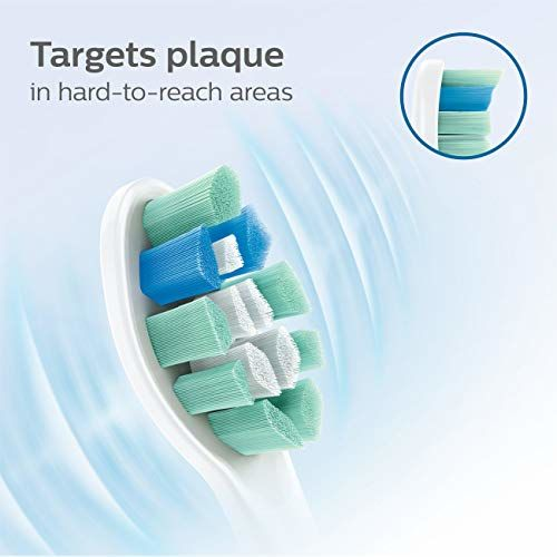 Philips Sonicare Optimal Plaque Control replacement toothbrush heads, HX9023/65, BrushSync technology, White 3-pk