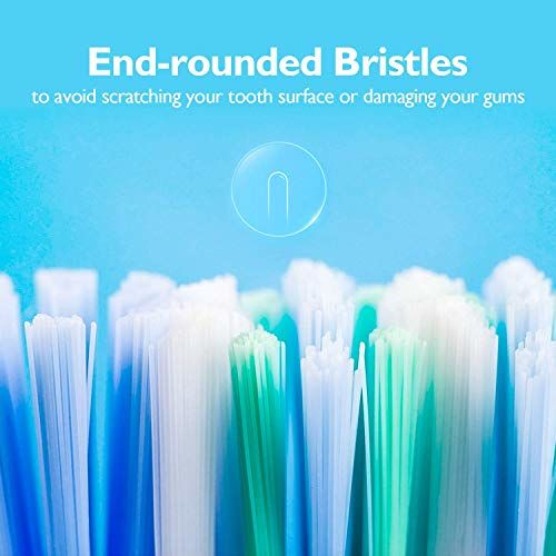TRILINK 6 Pack Toothbrush Heads for Philips Sonicare ProResults, fit DiamondClean, FlexCare, Gum Health, Plaque Control, EasyClean, HealthyWhite and HydroClean