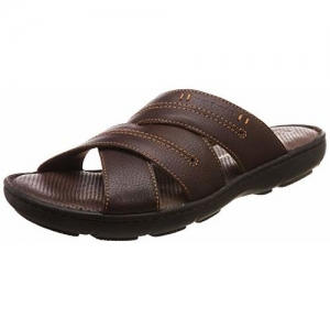 Hush Puppies Men's Track Mule Brown Leather Flip Flops Thong Sandals-7 (8744970)