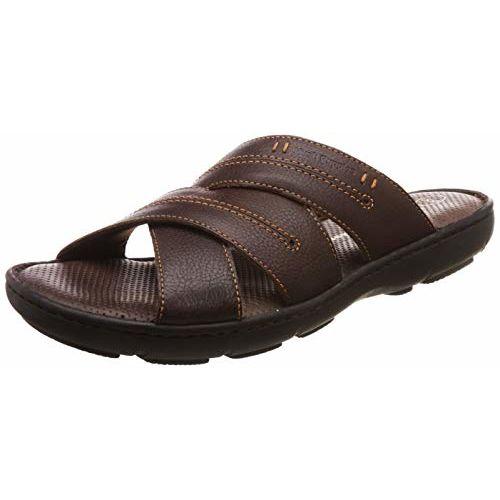Hush Puppies Men's Track Mule Brown Leather Flip Flops Thong Sandals-7 (8744970)