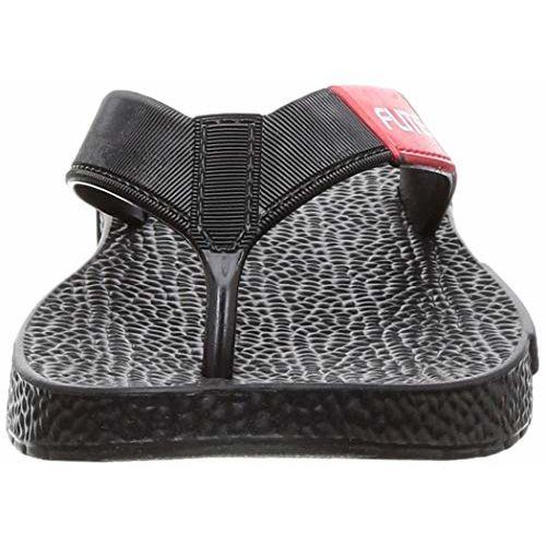 FLITE Men's Black Red Slippers-6 UK (39 1/3 EU) (FL0330G_BKRD0006)