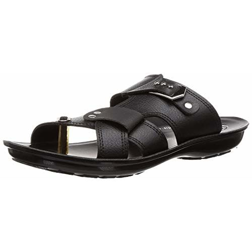 PARAGON Men's Black Formal Thong Sandals-6 UK/India (39/40 EU)(PU6758G)