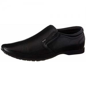 Lee Cooper Men's Black Leather Formal Shoes-6 UK/India (40 EU) (LC9254BBLACK40)