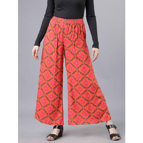 Vishudh Flared Women Multicolor Trousers