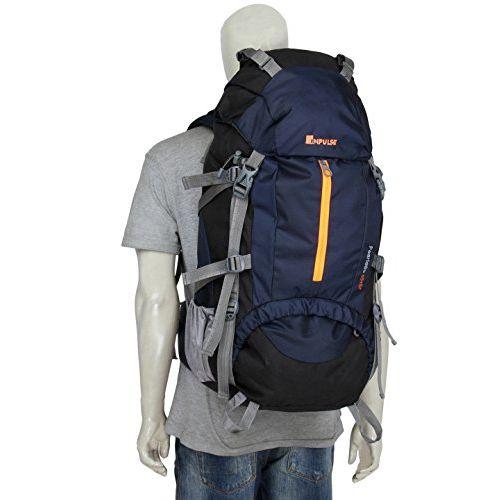 Impulse Inverse U 65 litres Waterproof Rucksack Backpack for Travelling Trekking Hiking with Free Raincover