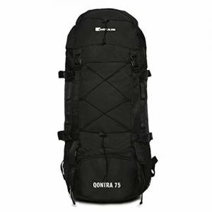 Impulse Waterproof Travelling Trekking Hiking Camping Bag Backpack Series 75 litres Black Qontra Rucksack