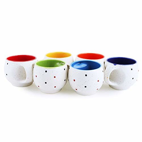 MARINER'S CREATION Ceramic Tea Cup - 6 Pieces, Multicolour