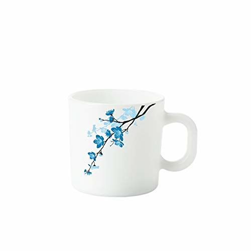 Larah by Borosil Mimosa Opalware Mug Set, 6-Pieces, White