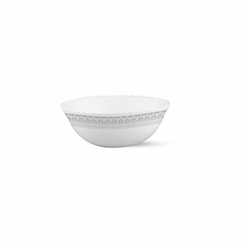 Larah by Borosil Classic Opalware Dinner Set, 19-Pieces, White