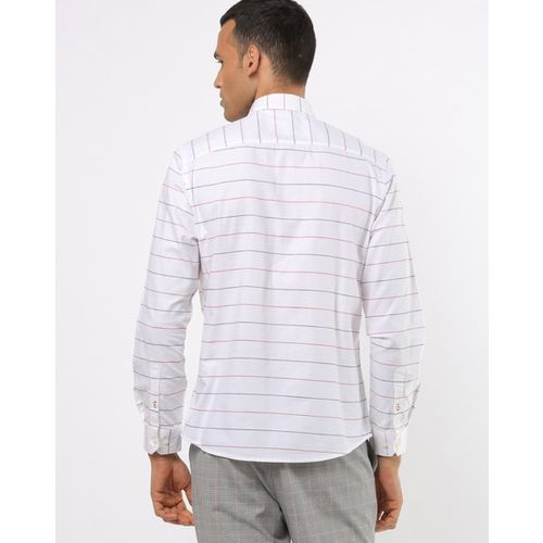 NETPLAY Striped Slim Fit Shirt with Patch Pocket