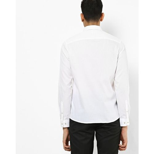 NETPLAY Cotton Shirt with Patch Pocket