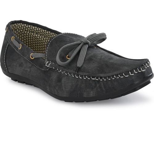 TIGONIS Black Synthetic Solid Lace Up Loafers