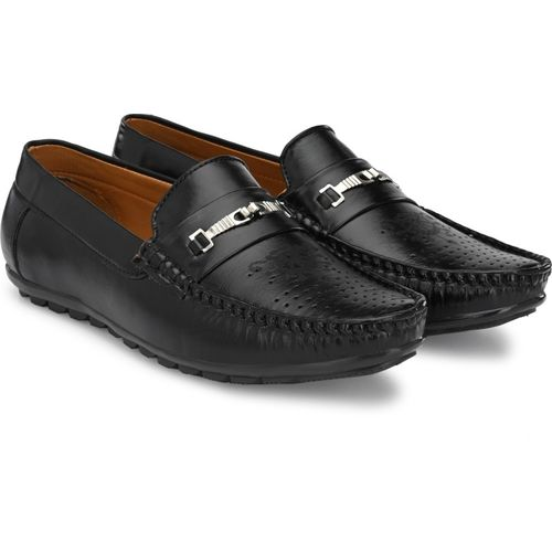T-Rock Black Synthetic Leather Slip On Loafers
