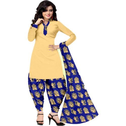 Sastvik Poly Crepe Printed Salwar Suit Material(Unstitched)