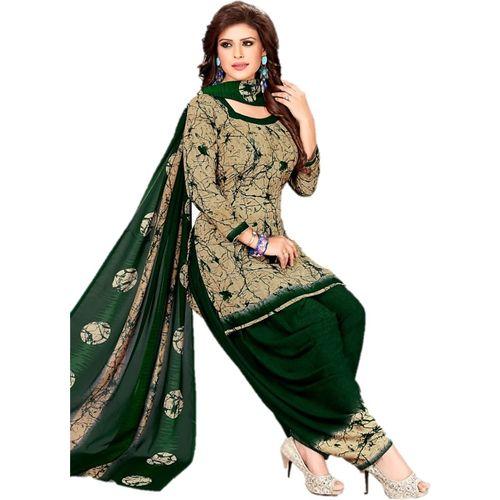 Design Willa Crepe Printed Salwar Suit Material(Unstitched)