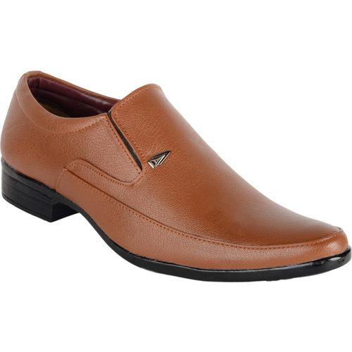 ASF SHOE Formal mens brown shoe Slip On For Men(Tan)