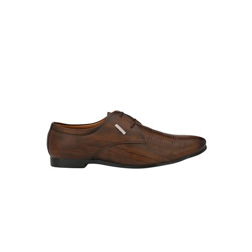 DERBY KICKS brown leatherette lace-up derbys