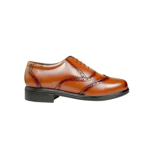 DERBY KICKS brown leatherette lace-up brouges