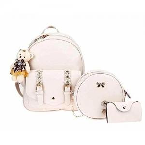 Floki Fashion Beige Fashion Cute Mini Leather Backpack