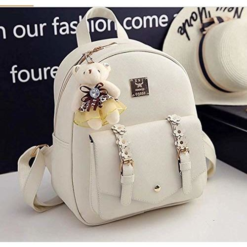 Floki Fashion Beige Fashion Cute Mini Leather Backpack