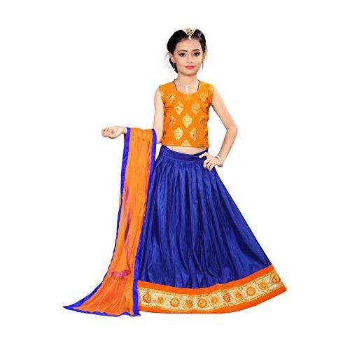 Arrow Fashion Girls' Cotton Silk Lehenga Choli