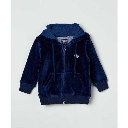 Max Full Sleeve Self Design Baby Girls Sweatshirt