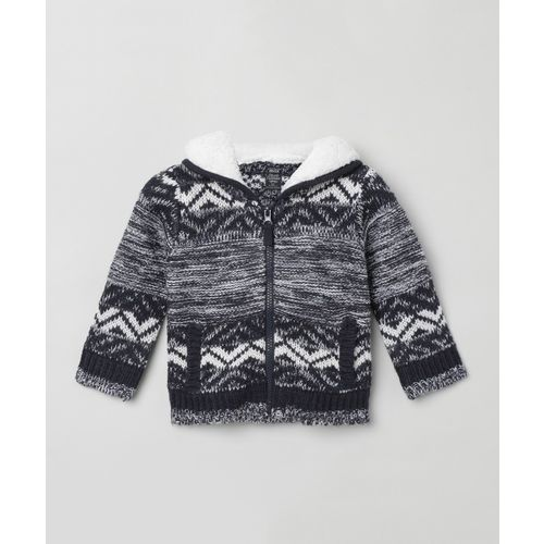 Max Printed Hooded Neck Casual Boys Multicolor Sweater