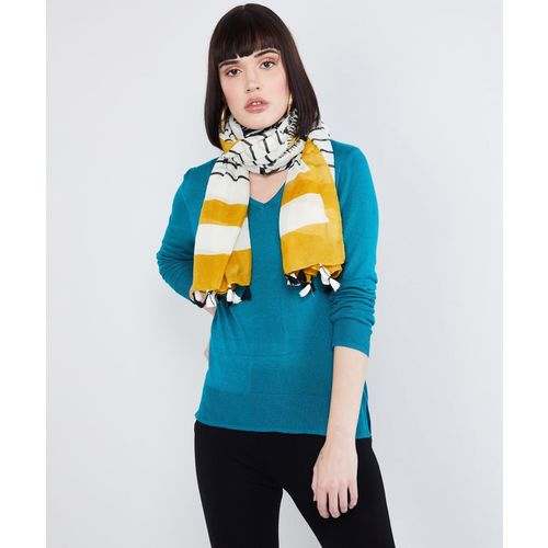 Max Striped Polyester Women Scarf