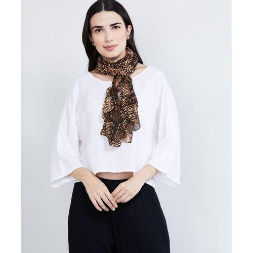 Max Animal Print Polyester Blend Women Scarf