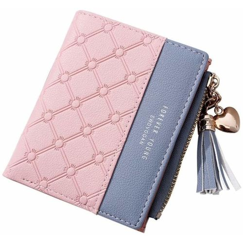 SYGA Women Evening/Party Pink, Blue Artificial Leather Wallet(5 Card Slots)