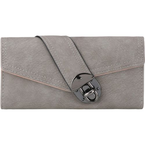 BeeFashionable Women Casual Grey Artificial Leather Wrist Wallet(10 Card Slots)