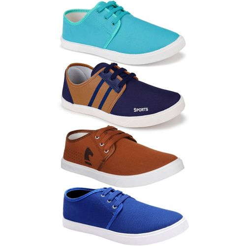 World Wear Footwear Multicolour Canvas Combo Casual Shoes