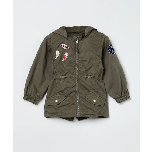 Max Full Sleeve Applique Baby Girls Jacket