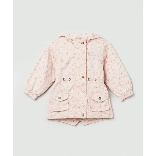 Max Full Sleeve Floral Print Baby Girls Jacket