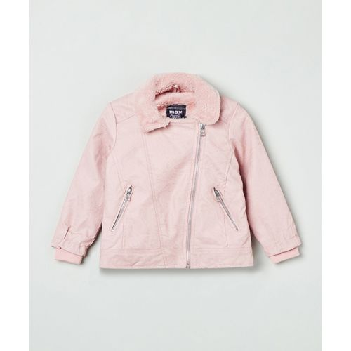 Max Full Sleeve Solid Girls Jacket