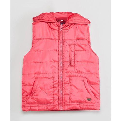 Max Sleeveless Solid Girls Jacket