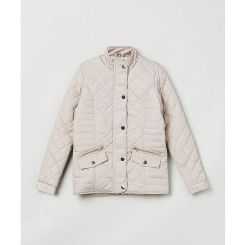 Max Full Sleeve Self Design Girls Jacket